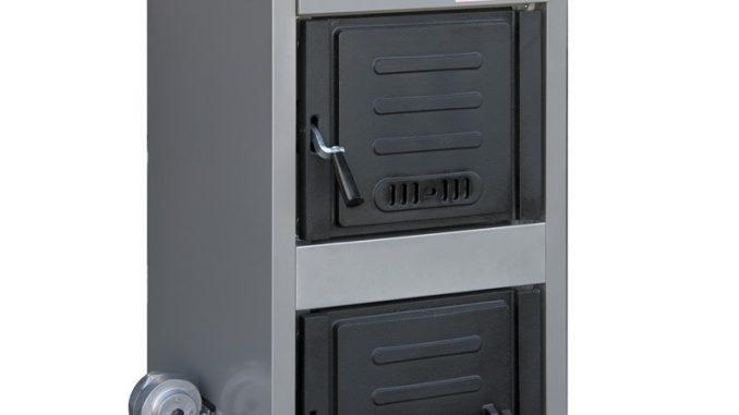 Caldera de Leña con panel electrónico